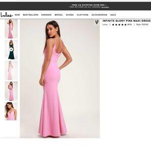Lulu's Infinite Glory Pink Maxi Dress